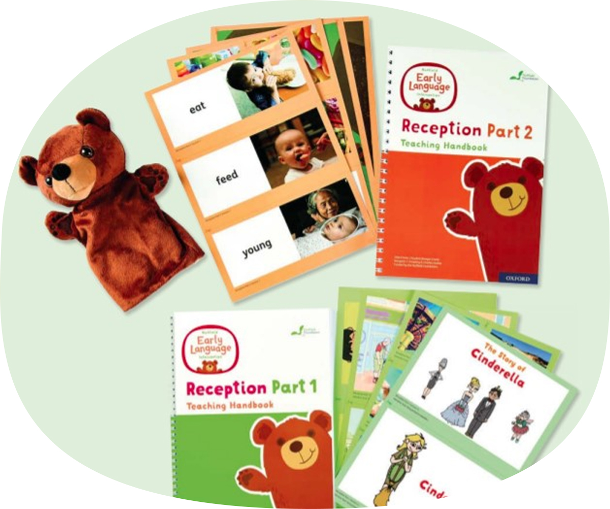 NELI bear puppet and flashcard resources